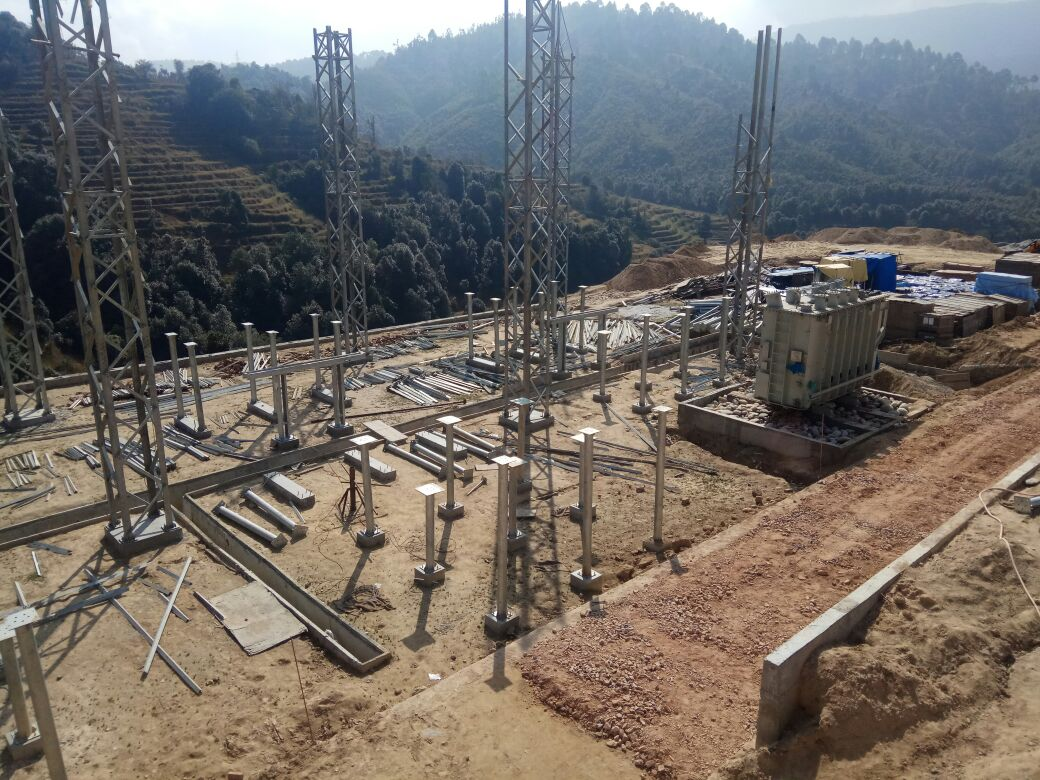 Sayule Equipment Support Structure Erection Work